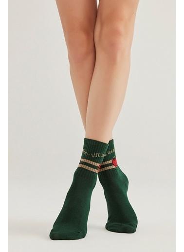 Penti Elma Soket Çorabı Renkli